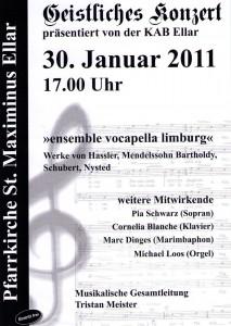 Plakat Geistliches Konzert Ellar